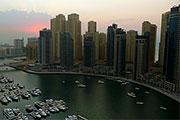Dubai Marina - Solnedgang