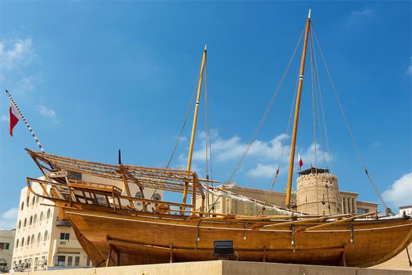 Skib ved Dubai Museum