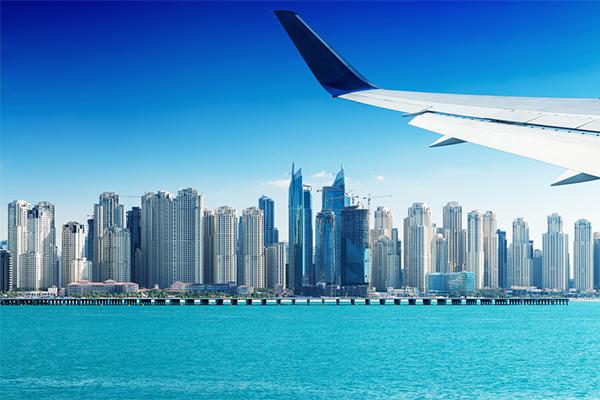 Fly i nærheden af Dubai