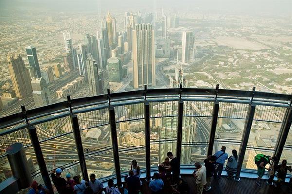 Udsigt fra Burj Khalifa